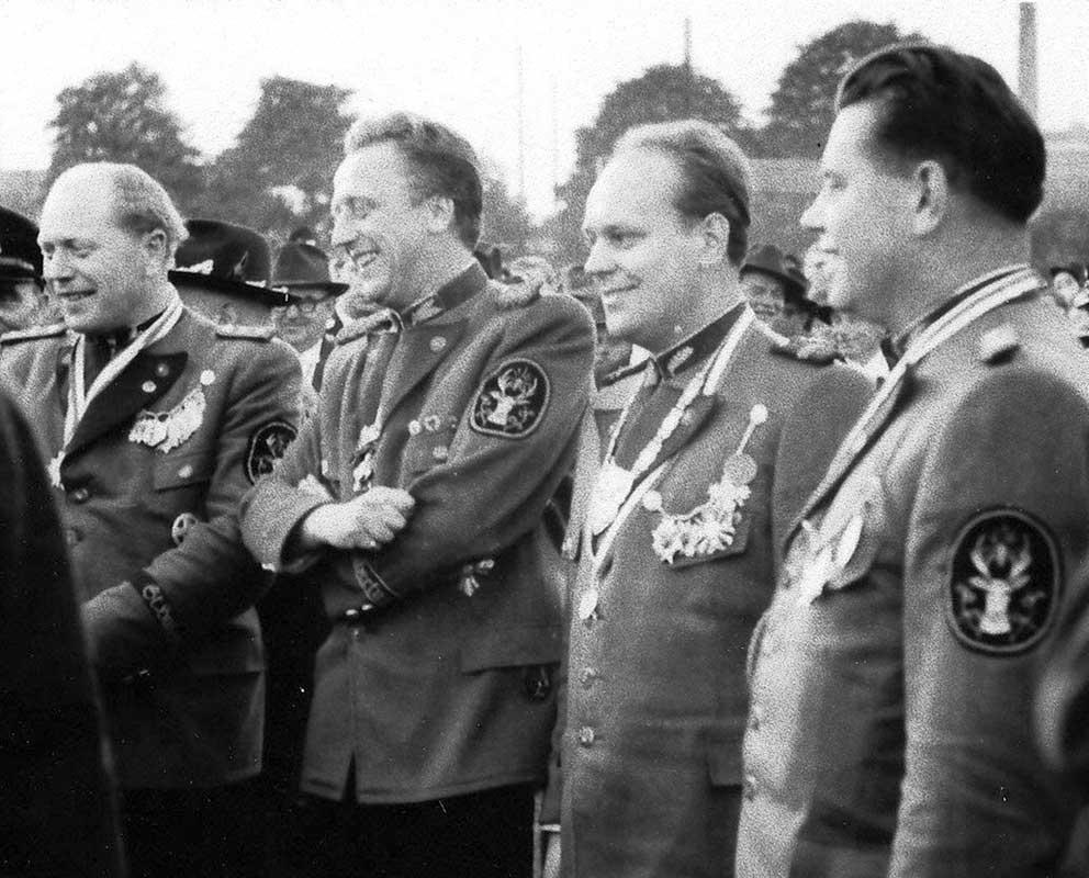 Bruno Kistler 1957 vor dem Königsschießen