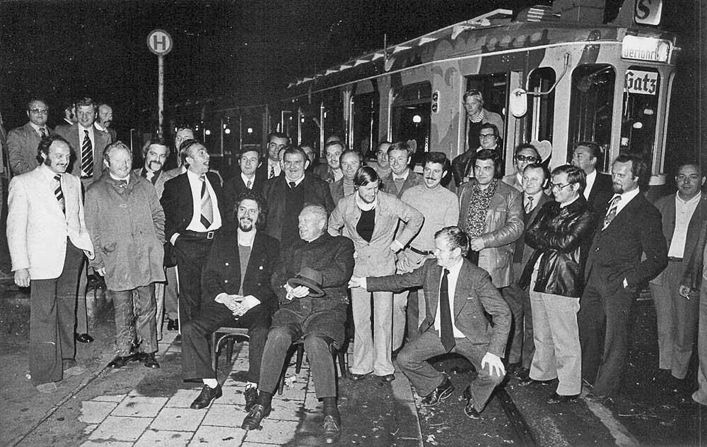Hubertusschützen 1974 auf Straßenbahntour