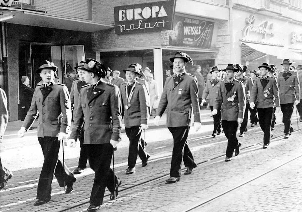 Patronatstag 1960 Aufmarsch