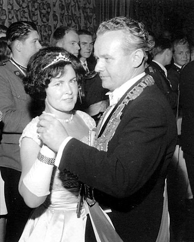 Schützenkönig der Stadt Neuss 1960-61 Karl Herbrechter