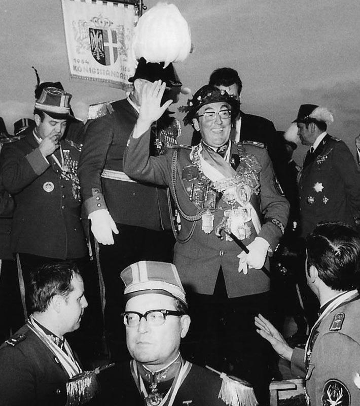 Schützenkönig der Stadt Neuss 1970-71 Mathias Gondorf