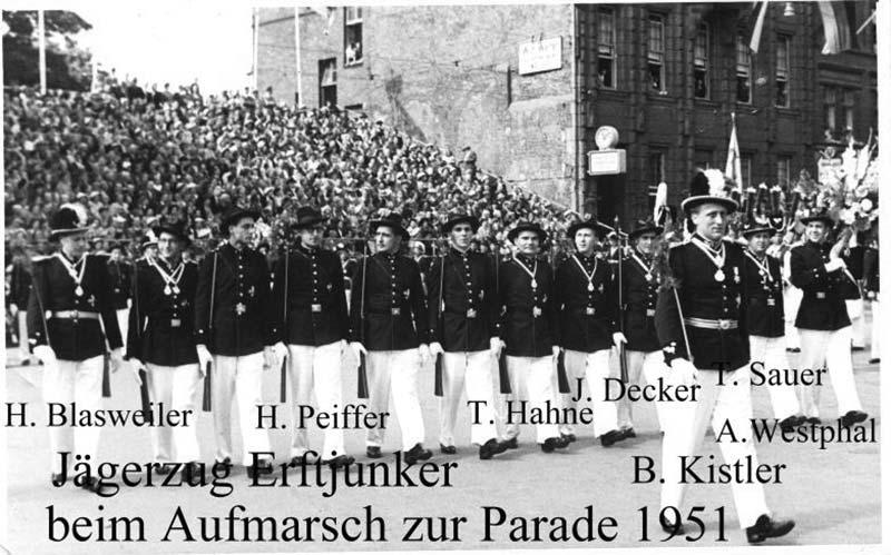 Zug Erftjunker als Jägerzug 1951