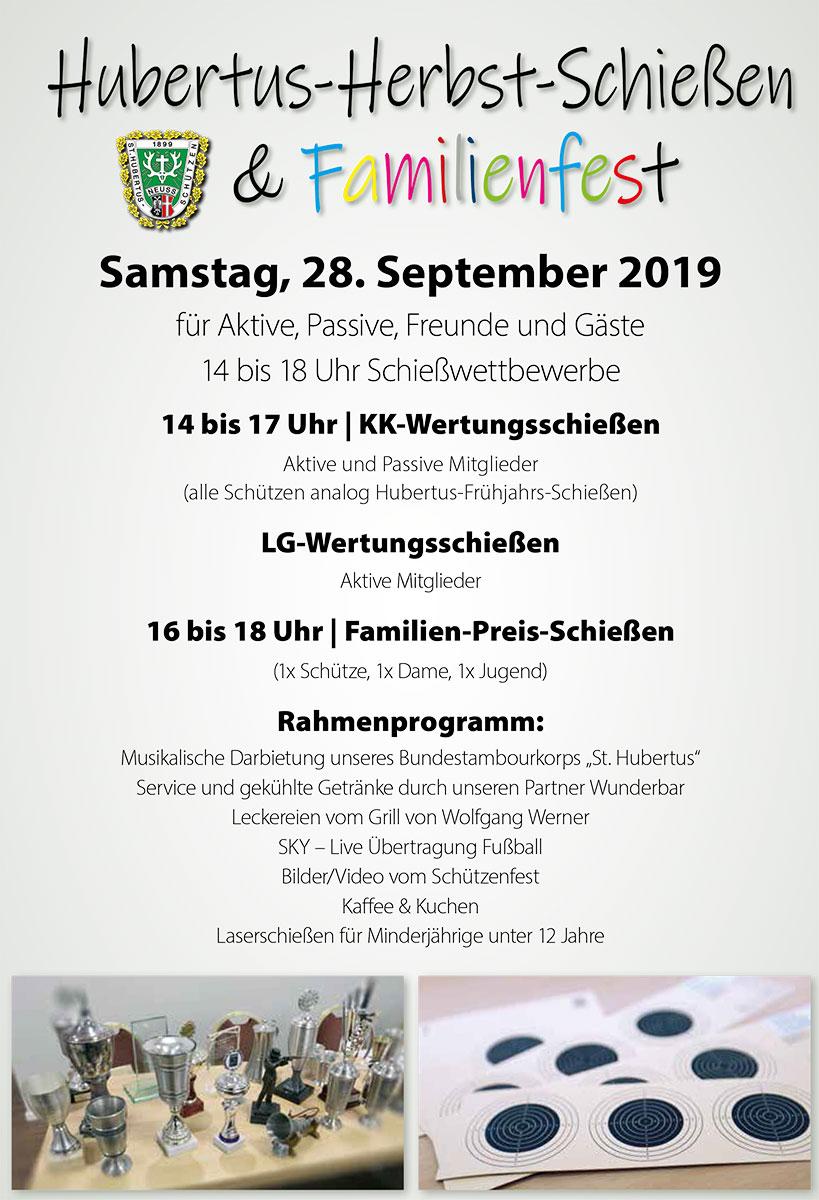 Hubertus Herbst Schießen 2019