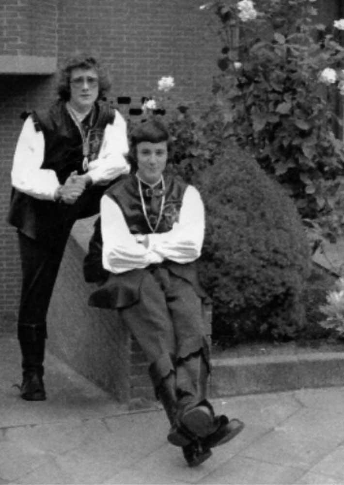 Bogenschützen 1975, Peter Schiefer sitzend