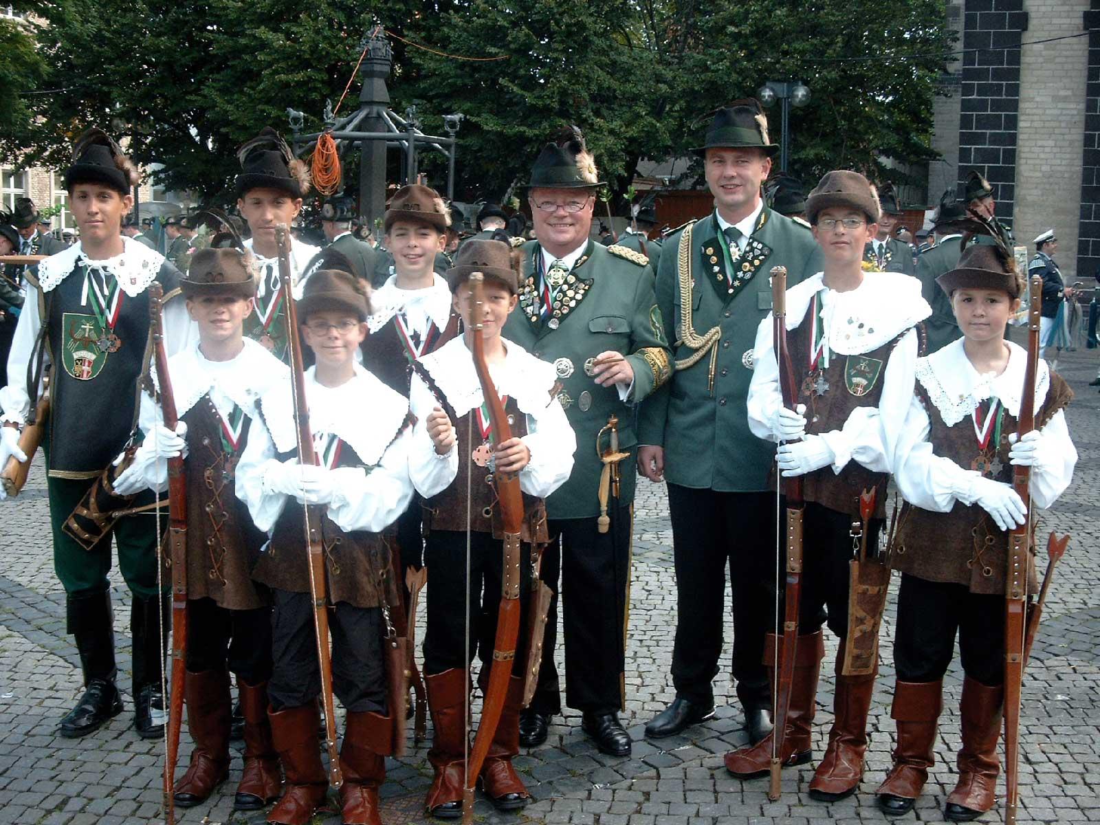 Bogenschützen 2007 Friedhelm Becker Volker Albrecht
