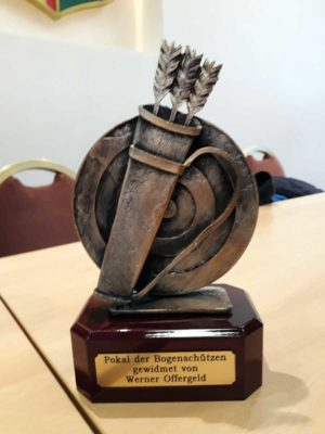 Pokal Bogenschützen Werner Offergeld