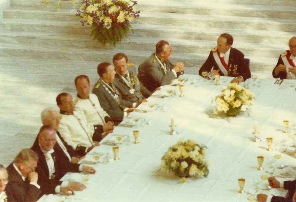 Festmahl Komitee 1970 mit Kistler, Gondorf, Förster