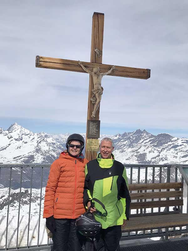 Beate und Kurt Koenemann, Winterurlaub
