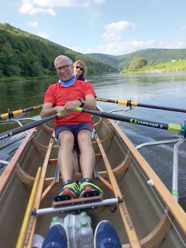 Beate und Kurt auf der Weser