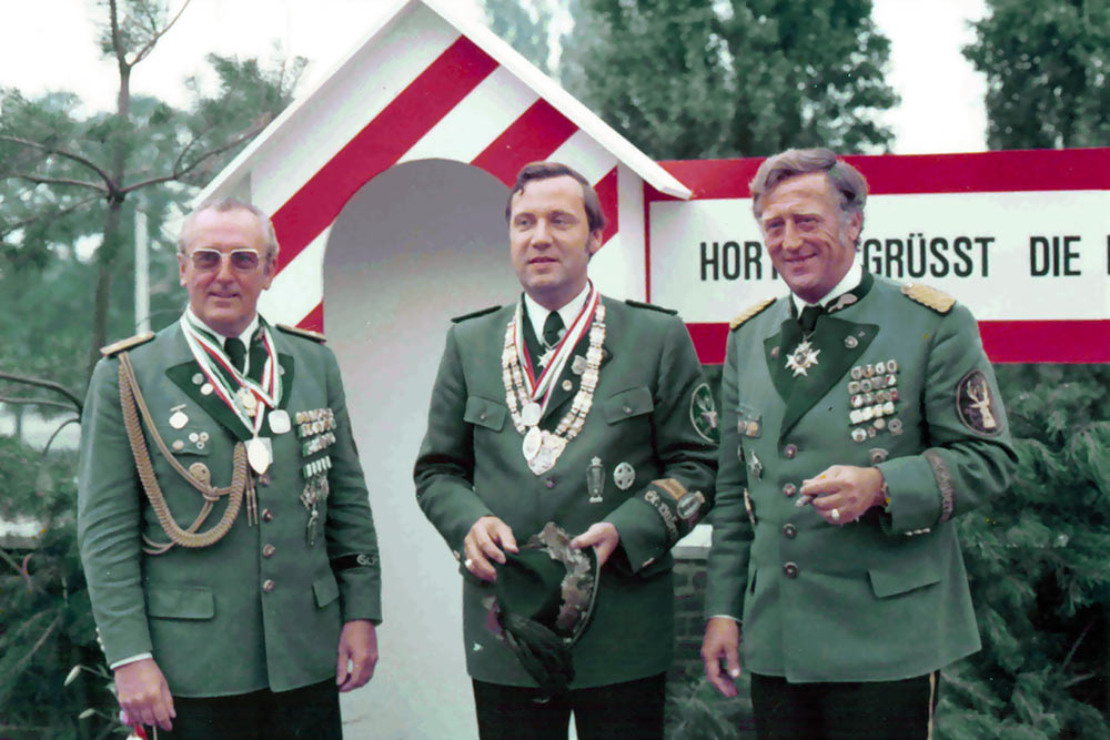 1975, Adjutant Gondorf, Hubertuskönig Schwarzfeller, Major Kistler