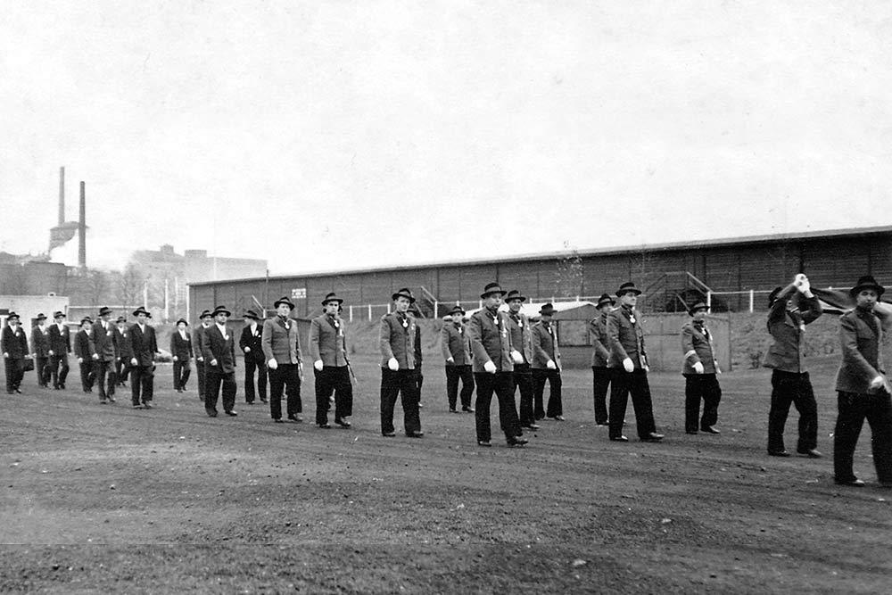 1953 Patronatstag Marsch zum Schießen