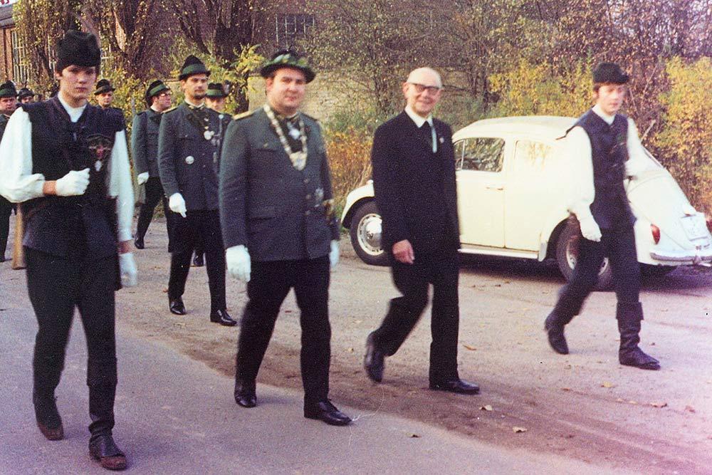 1969 Patronatstag Marsch zum Scheibendamm
